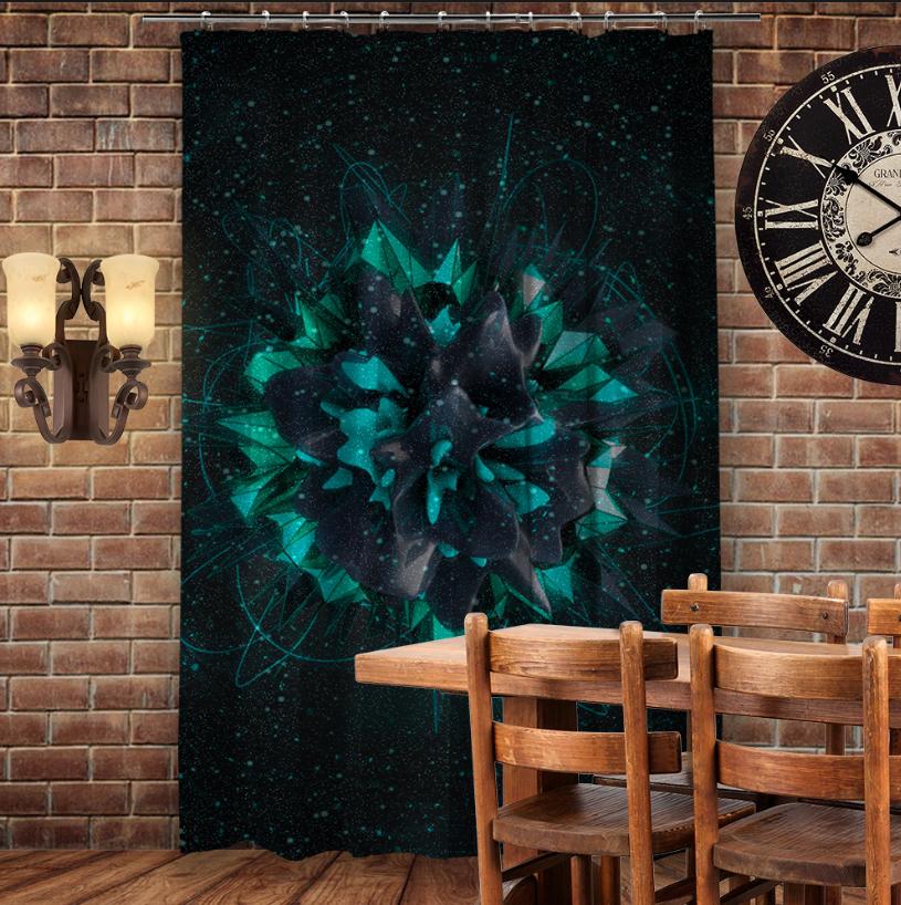 Штора 3D с принтом Flower plazma
