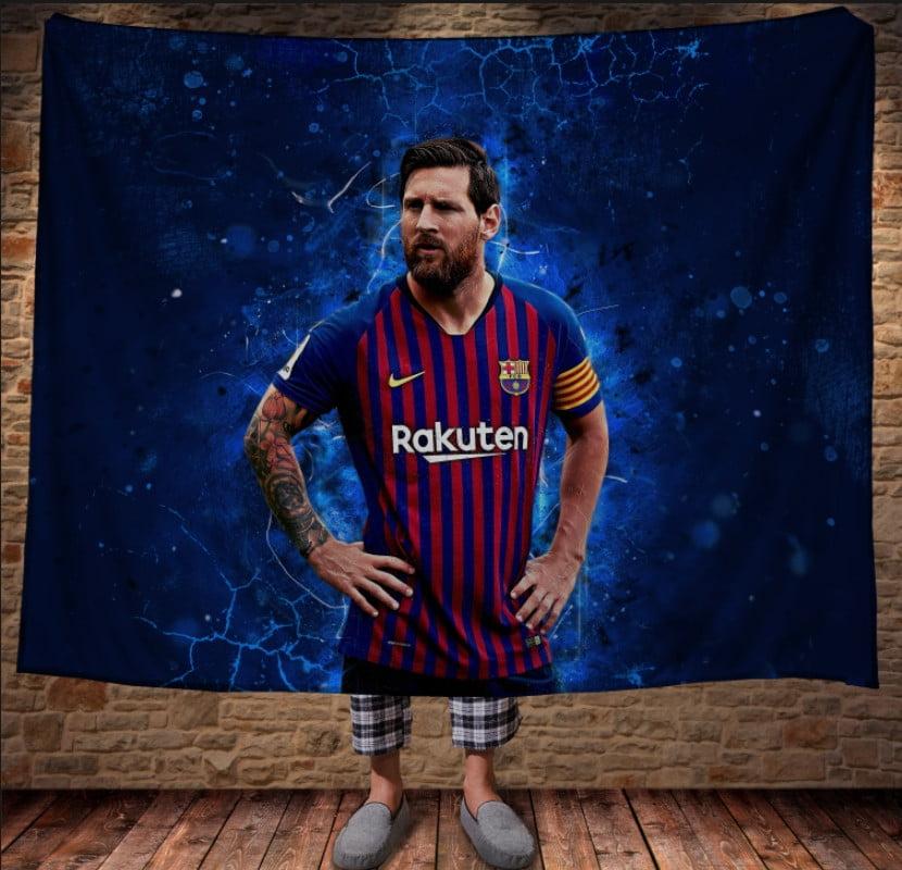Плед с 3D принтом Messi The Best