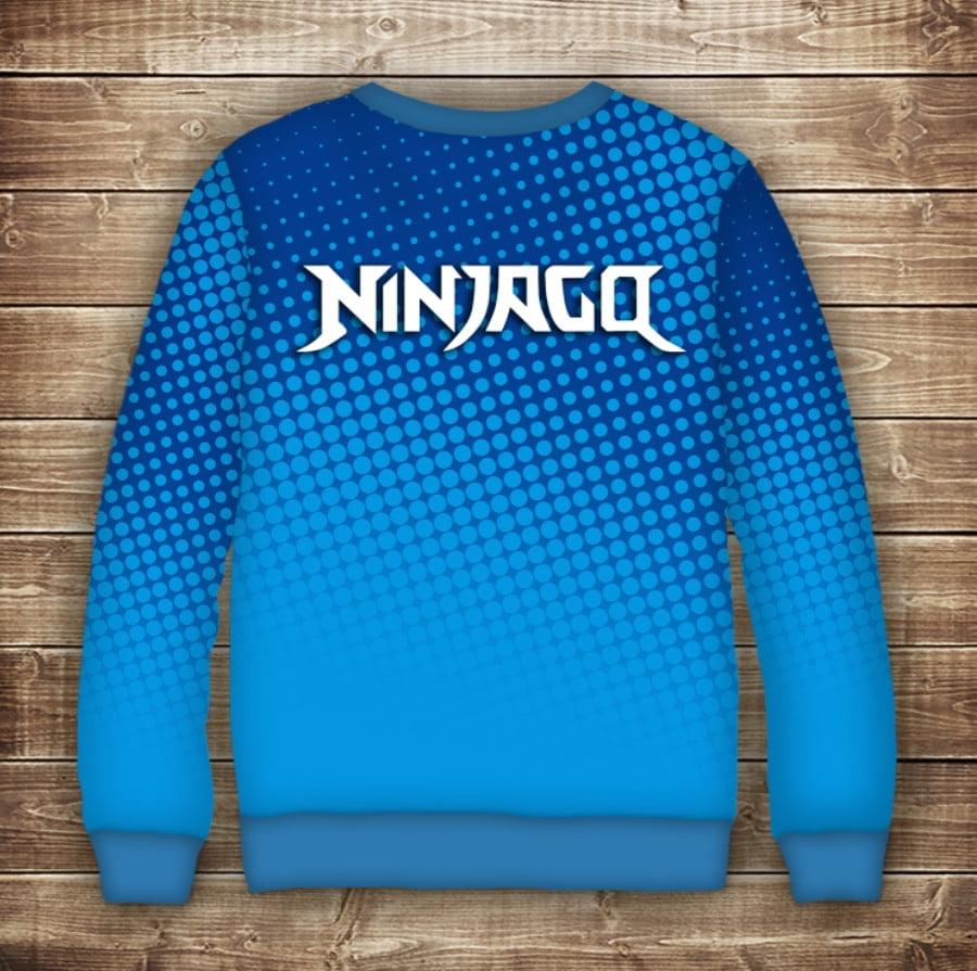 Свитшот с принтом Ниндзяго Ninjago (синий)