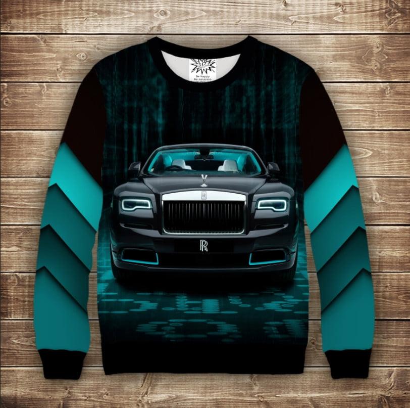 Свитшот с 3D принтом Rolls-Royce
