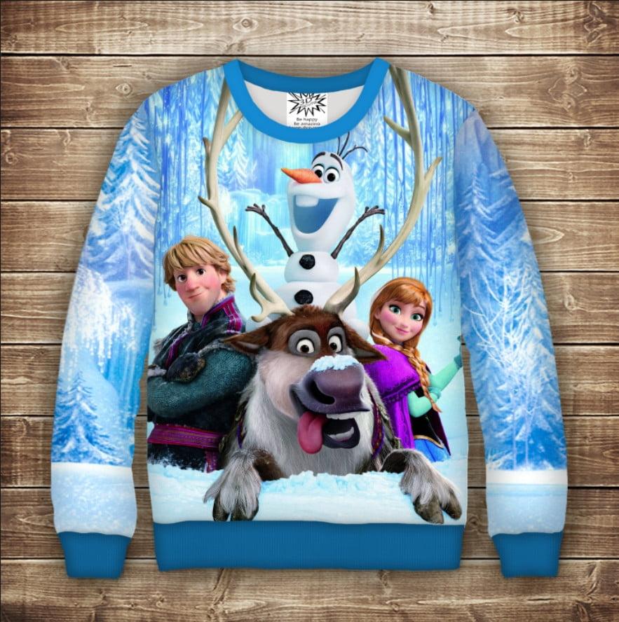 Свитшот с принтом Frozen / Холодное Сердце-Эльза