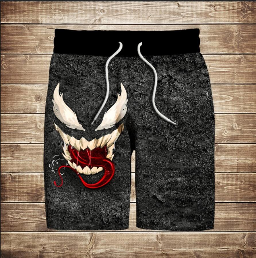 Шорты с 3D принтом на тему Venom Smile