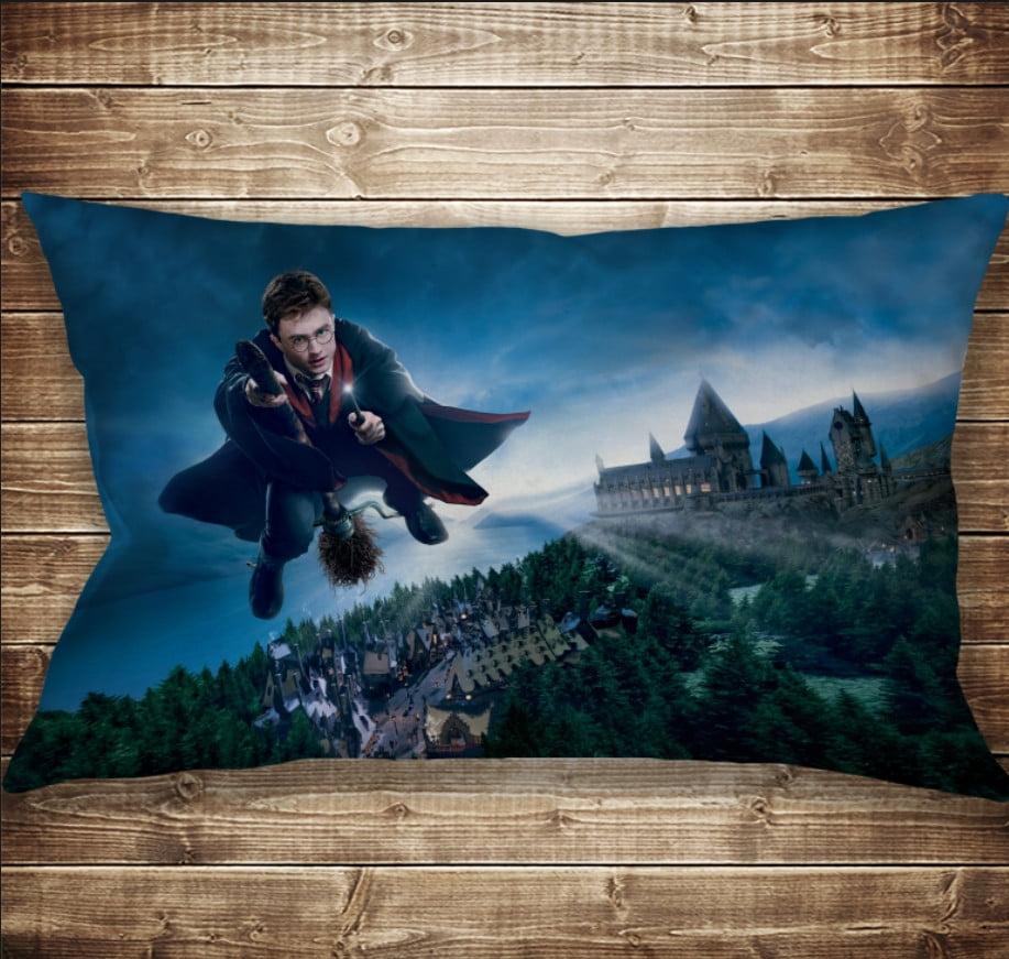 Подушка-картина с принтом на тему Гаррі Поттер і Німбус 2000 50х70см