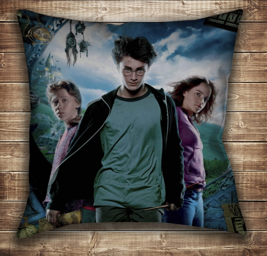 Подушка с принтом на тему: Гарри Поттер и Карта Мародеров