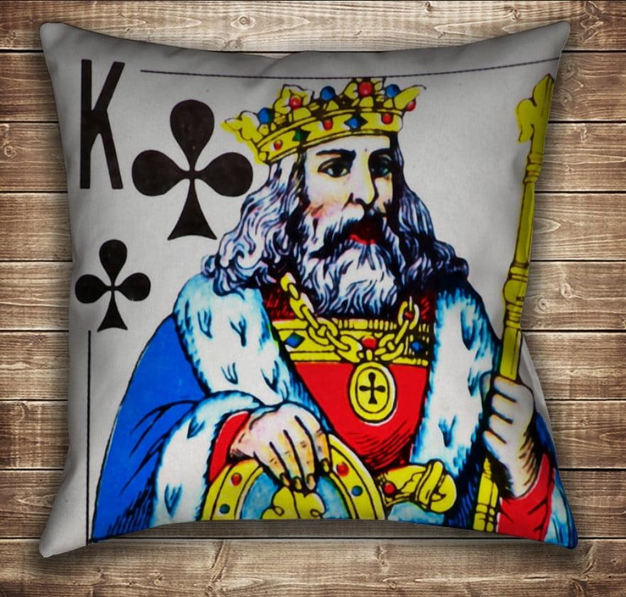 Подушка с принтом на тему: Карты игральные. Король Треф
