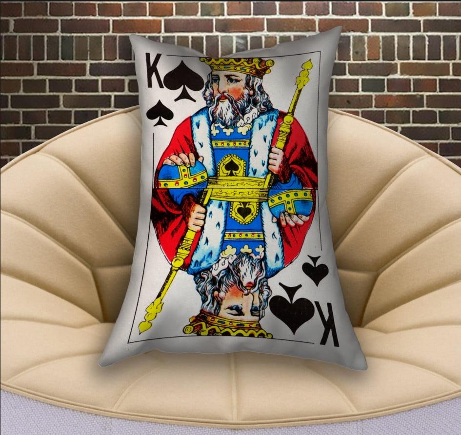 Подушка ростовая с 3D принтом на тему Карты игральные. Пиковый Король (70х50)