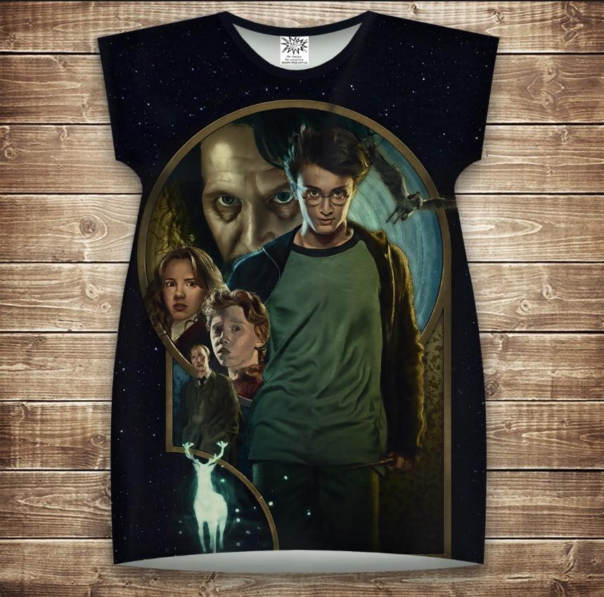 Платье-туника с 3D принтом Гарри Поттер и узник Азкабана взрослые и размер