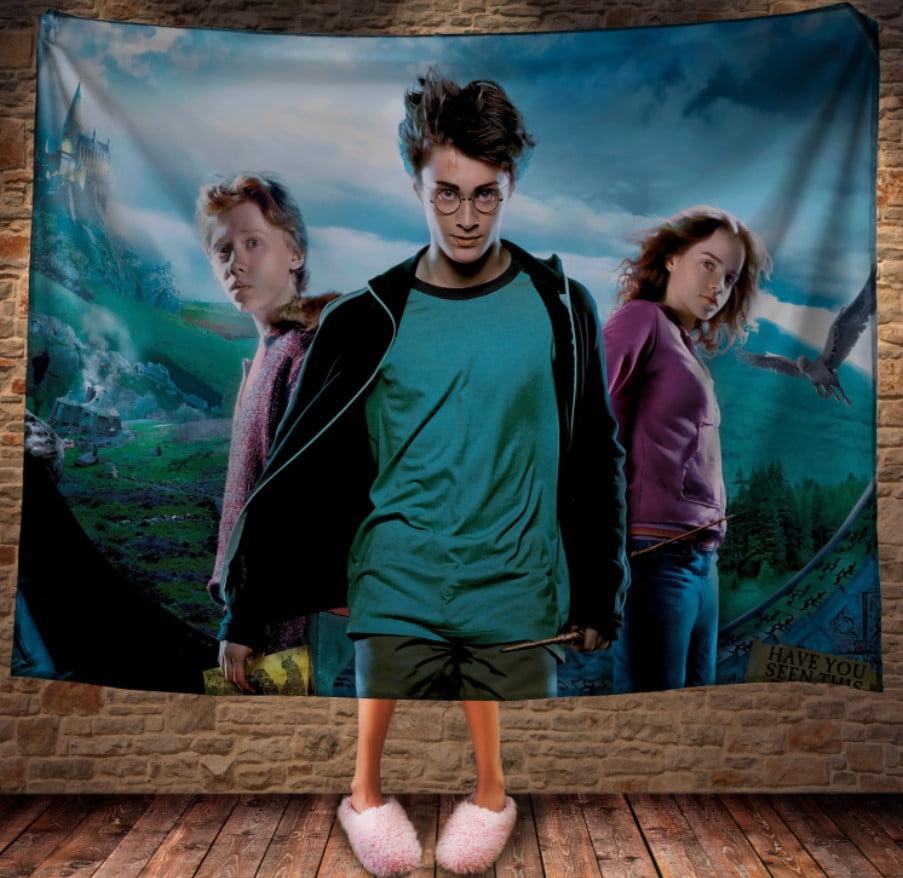 Плед с 3D принтом на тему - Гарри Поттер и Карта Мародеров