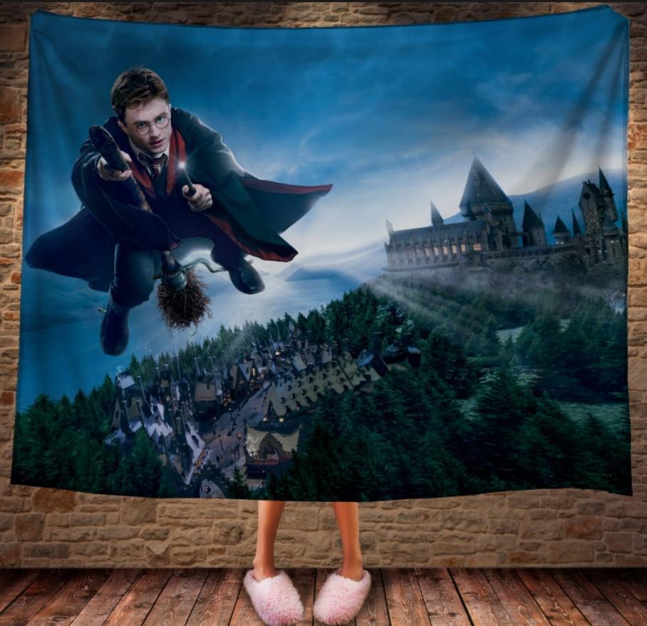 Плед с 3D принтом на тему - Гарри Поттер и Нимбус 2000