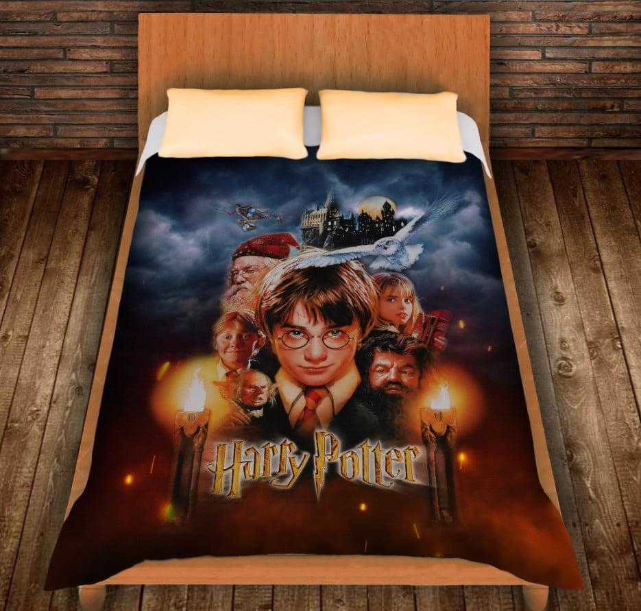 Плед с 3D принтом на тему - Гарри Поттер и Философский Камень 1 курс