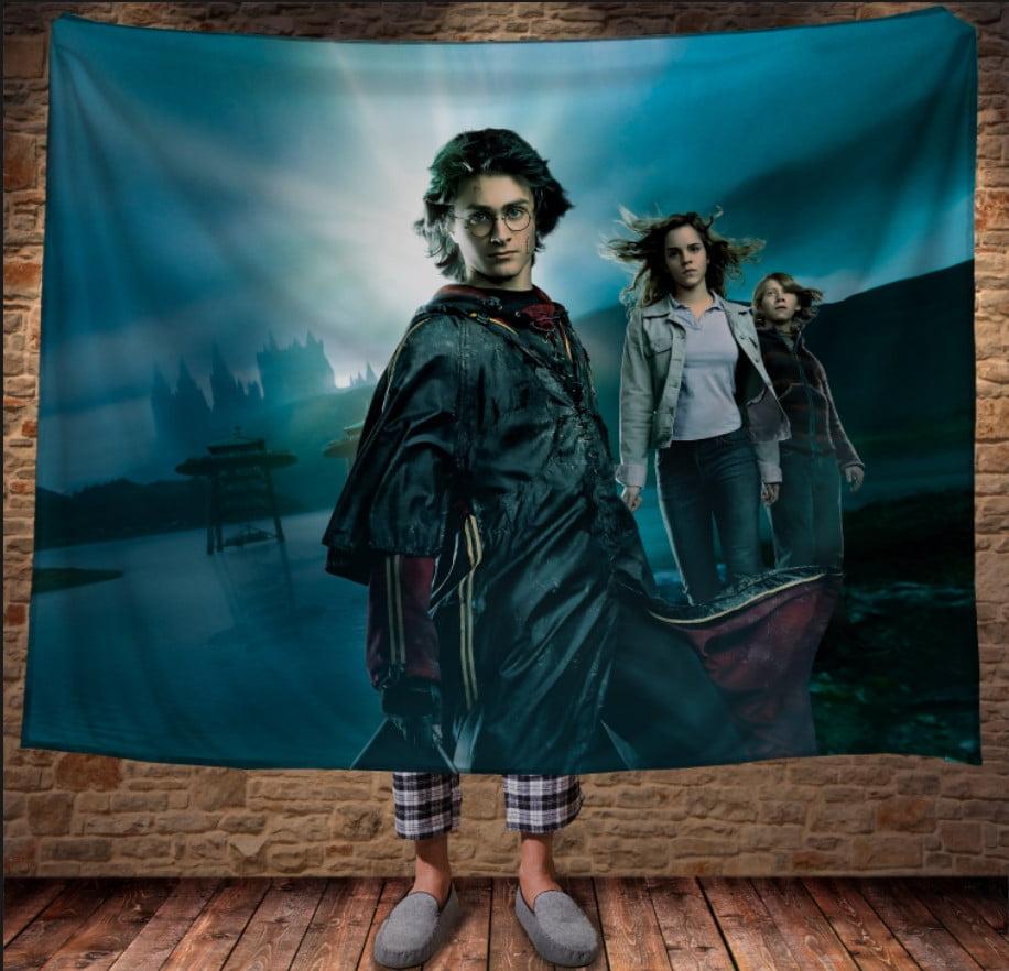 Плед с 3D принтом на тему - Гарри Поттер Рассвет и Магия
