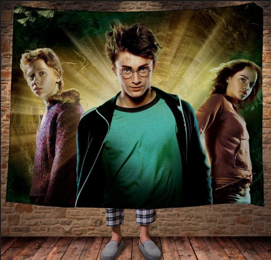 Плед с 3D принтом на тему - Гарри Поттер
