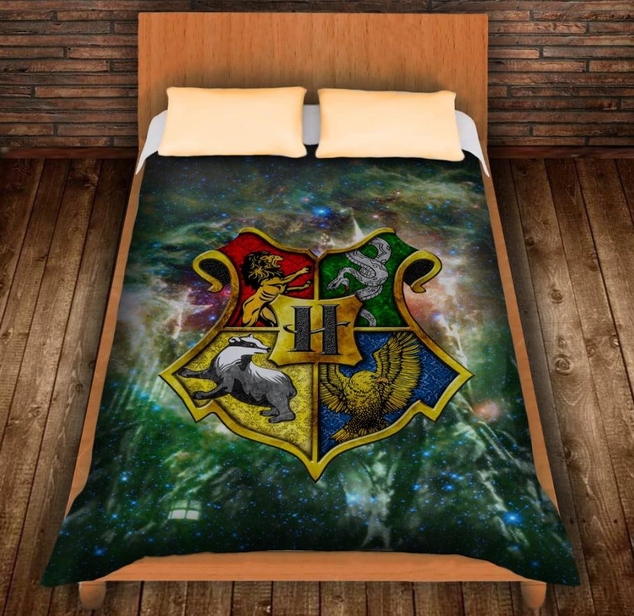 Плед с 3D принтом на тему - Гарри Поттер. Факультеты Хогвартса