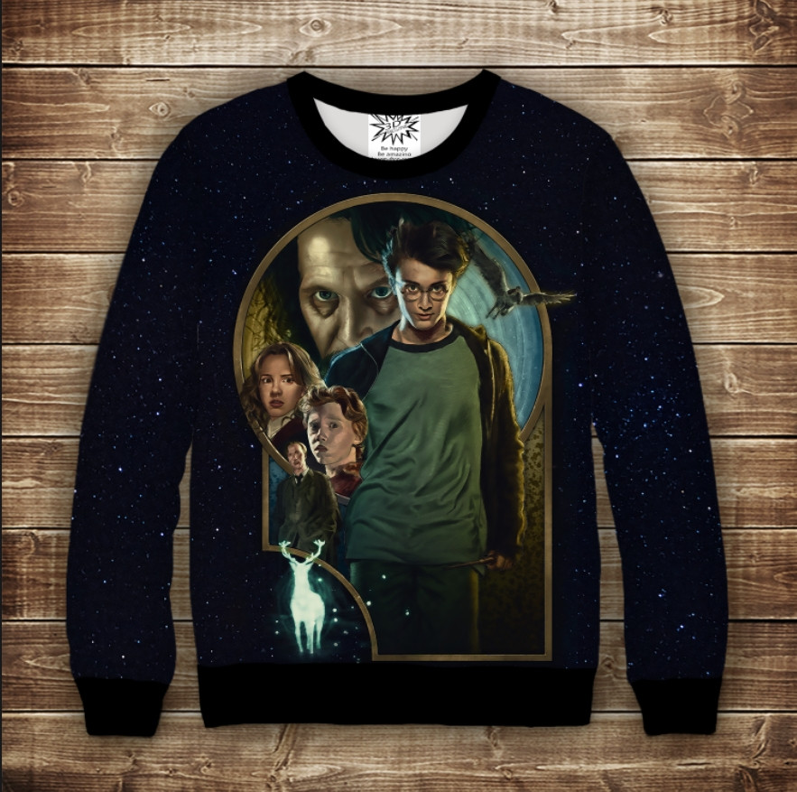 Свитшот с 3D принтом Гарри Поттер и узник Азкабана Детские и взрослые размеры