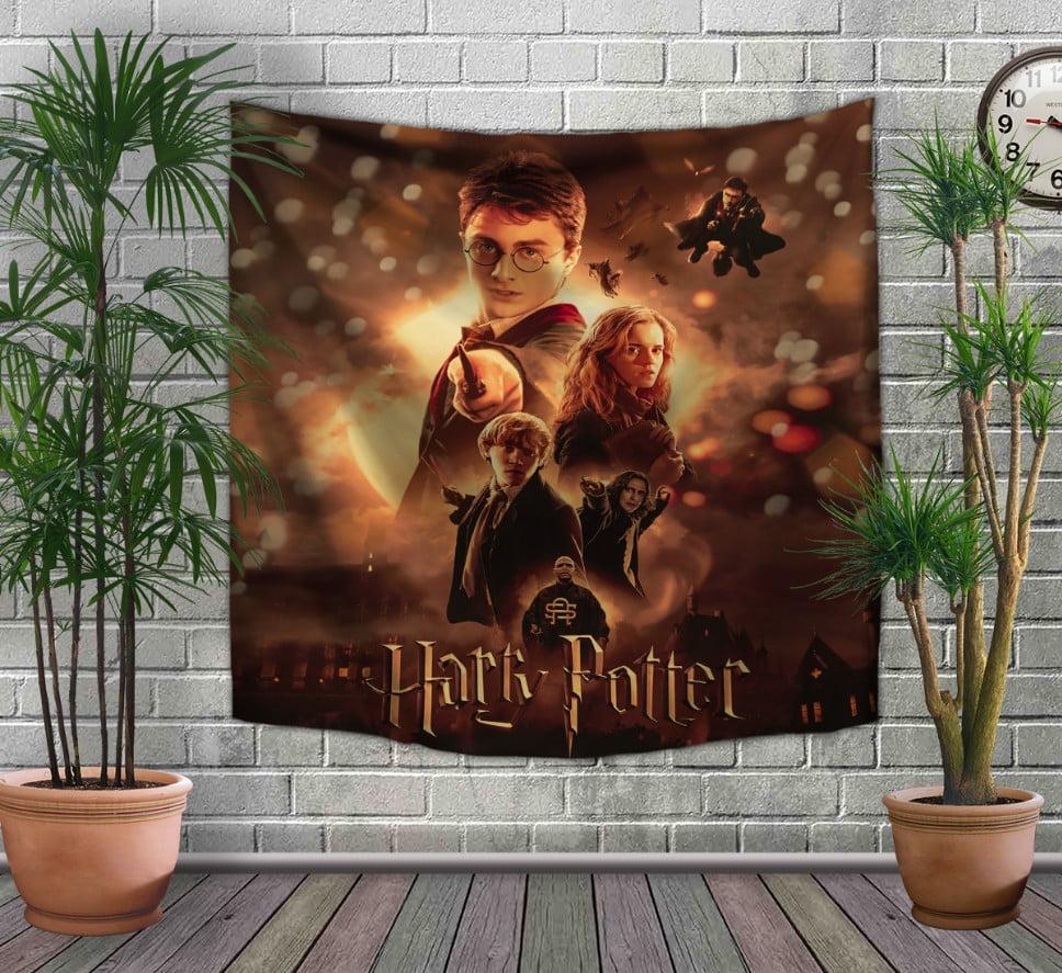 Панно-тапестри(гобелен) с 3D с принтом Гарри Поттер Огонь и битва