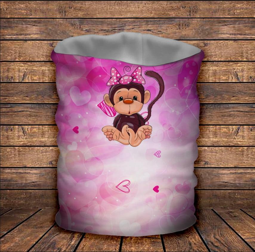 Бафф Веселые обезьянки Розовый Детские и взрослые размеры