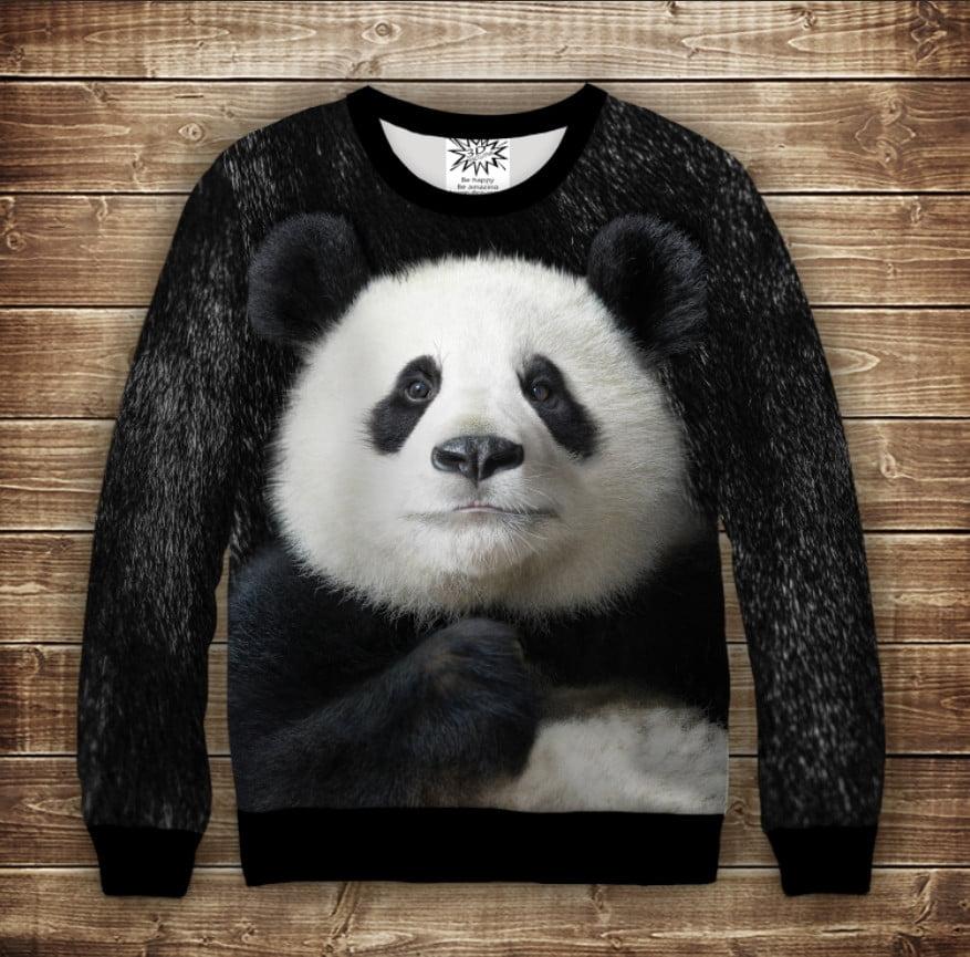 Світшот с 3D принтом на тему Панда