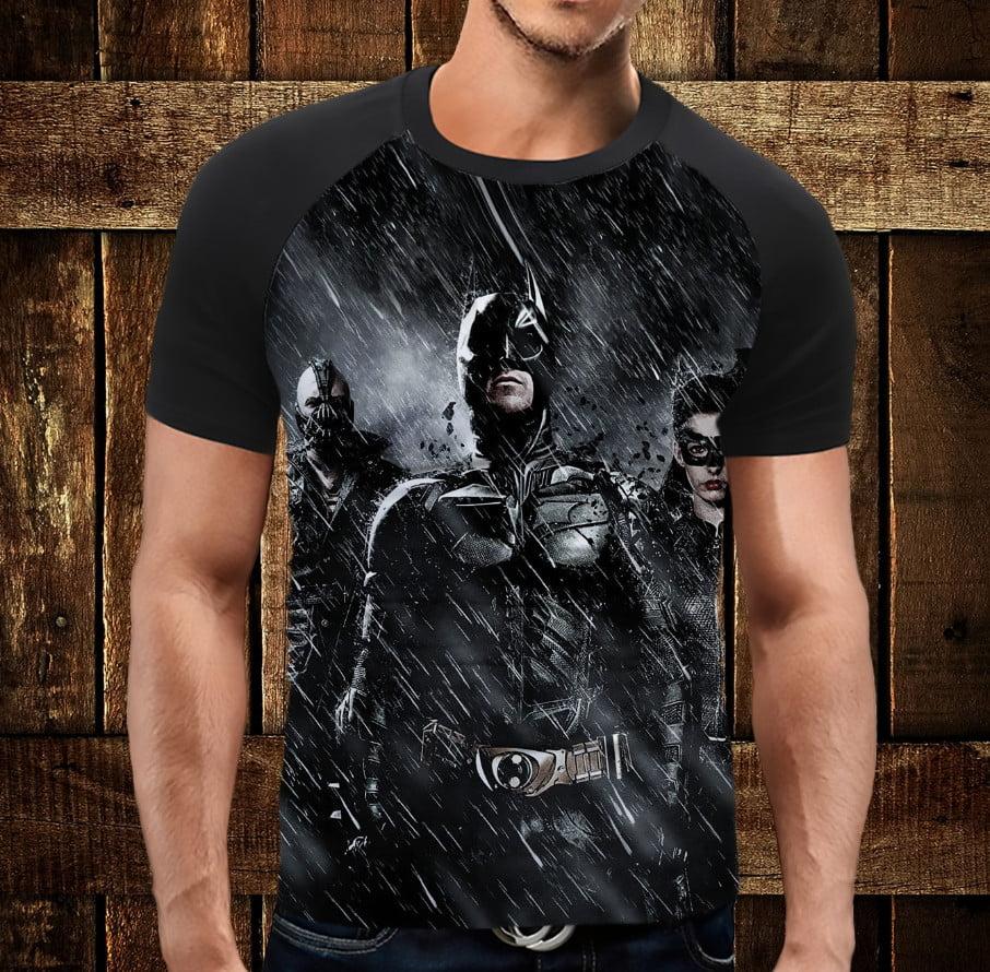 Футболка реглан с 3D принтом: Бэтмен ин найт. Batman in the night. Взрослые и детские размеры