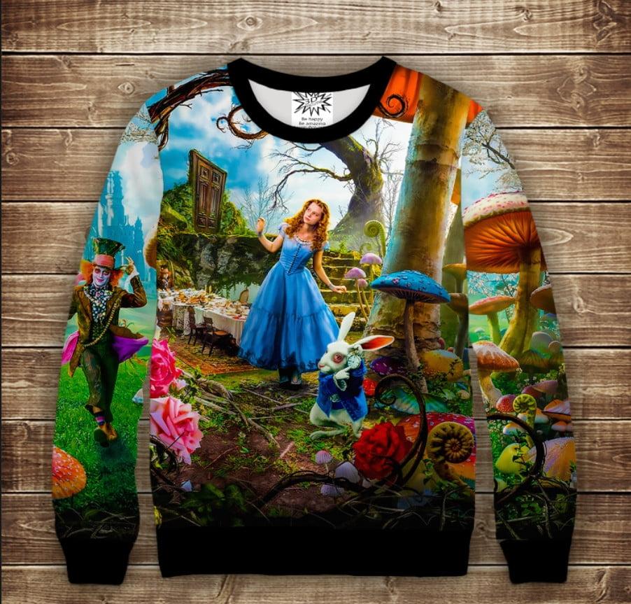 Свитшот 3D Алиса в стране Чудес