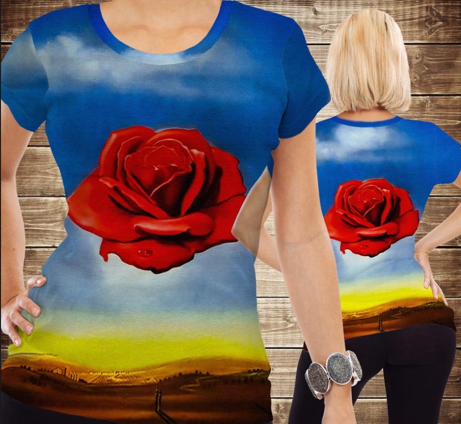 Футболка 3D Rosa meditative Salvador Dali