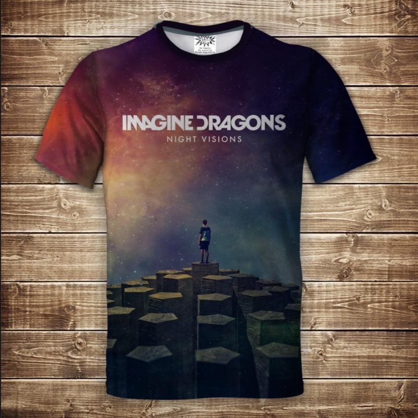 Футболка 3D IMAGINE DRAGONS Night Visions