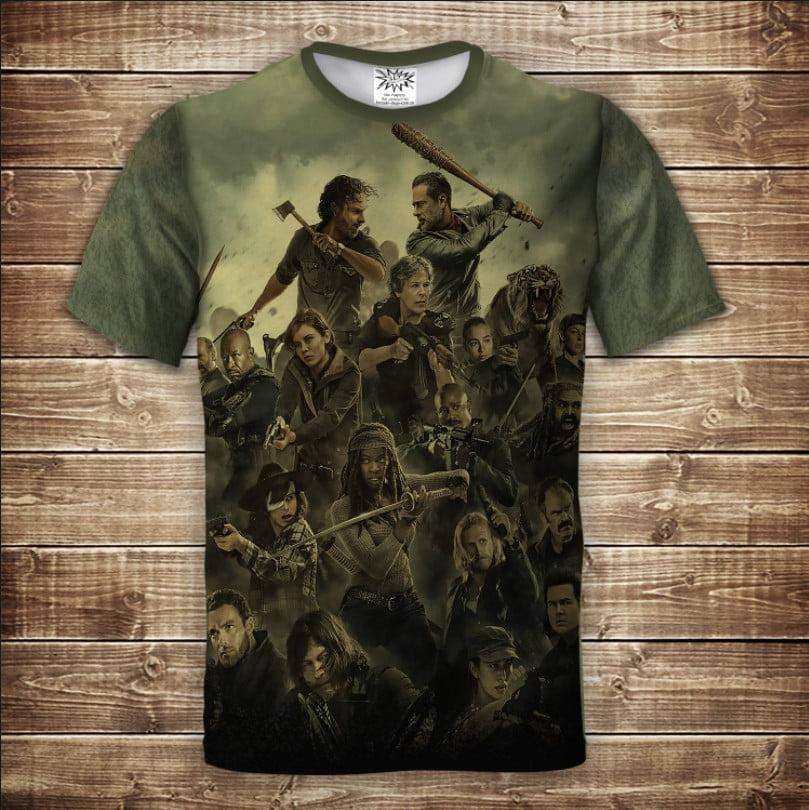 Футболка 3D RICK The Walking Dead