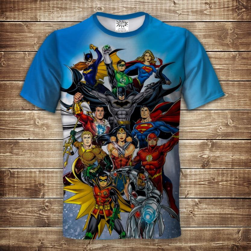 Футболка 3D Супергерои DC Comics