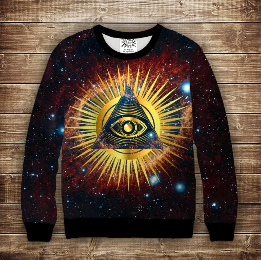 Світшот 3D Всевидящее око и Созвездие Небула