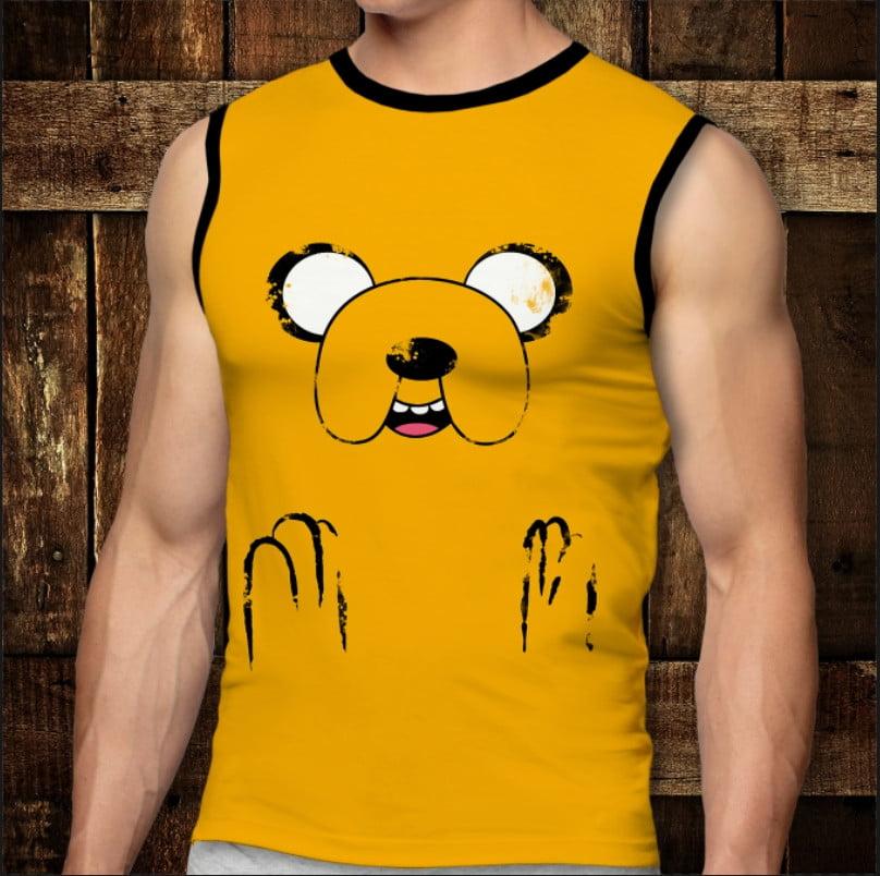 Футболка-безрукавка с 3D принтом: Adventure Time: Jake. Взрослые и Детские размеры