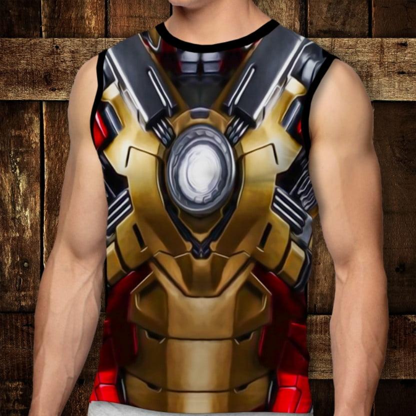 Футболка-безрукавка с 3D принтом: Armor: Iron Man 3. Взрослые и Детские размеры