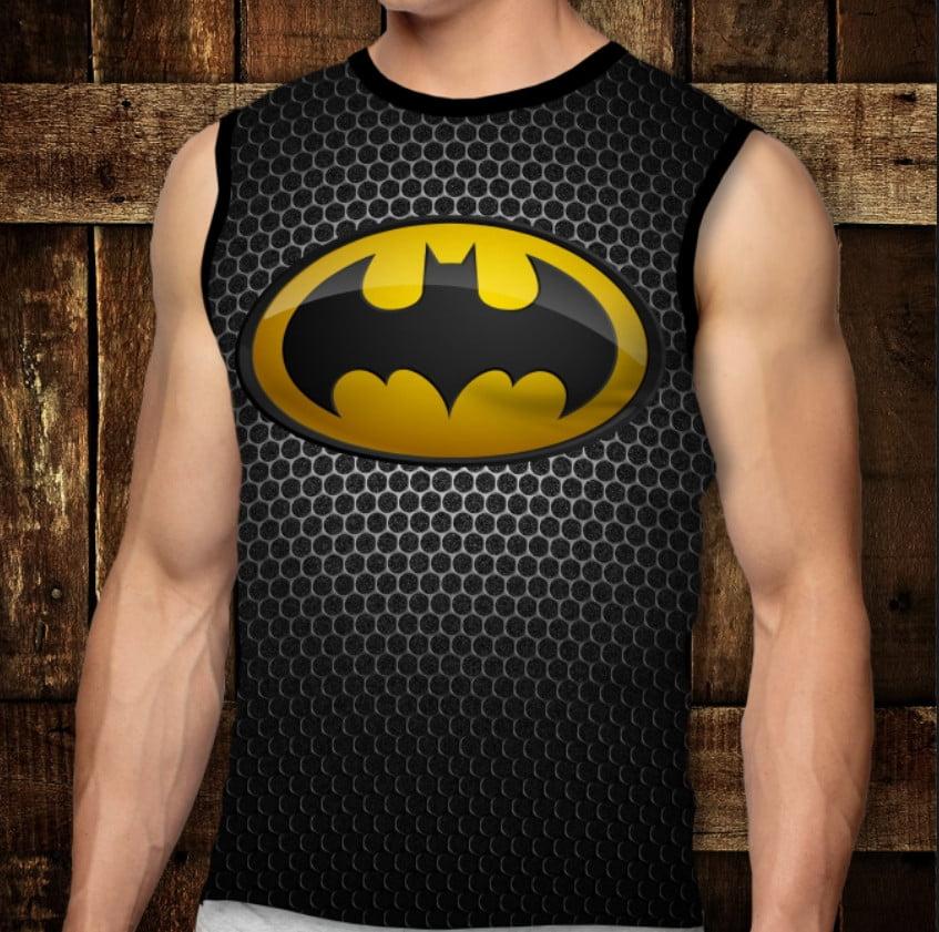 Футболка-безрукавка с 3D принтом: Batman Emblem. Взрослые и Детские размеры